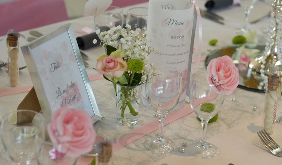 decoration mariage rose romantique par griffe deco nancy lorraine