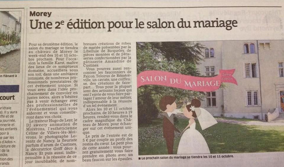 salon du mariages chateau de Morey