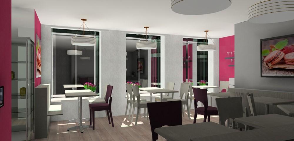 visualisation en 3d salon de thé par griffe deco nancy