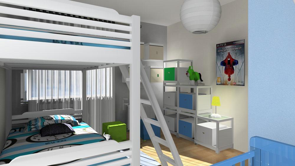 3d chambre enfants for Decoration chambre 3d