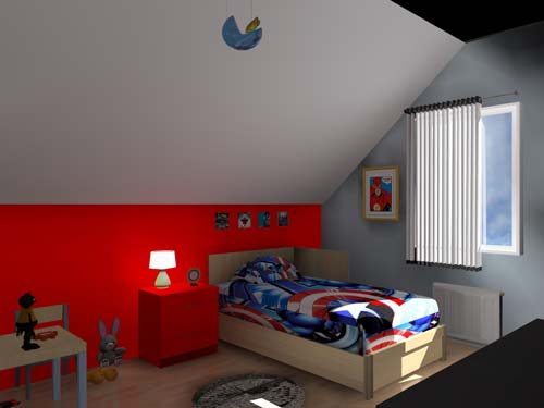 3d chambre enfant 39 les super h ros 39. Black Bedroom Furniture Sets. Home Design Ideas