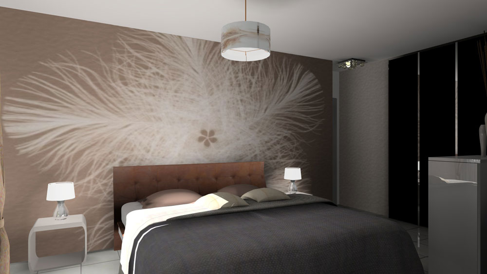 Visualisation 3d archives for Voir deco chambre