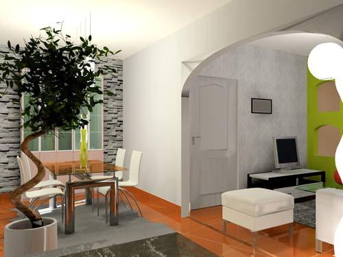 3d salon salle manger vert anis. Black Bedroom Furniture Sets. Home Design Ideas