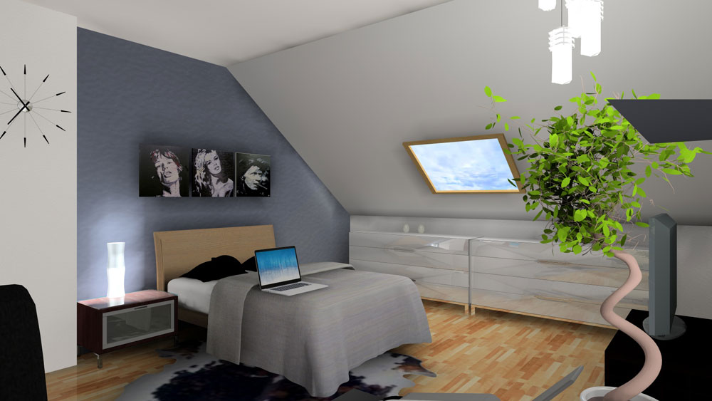 3D chambre sous comble |